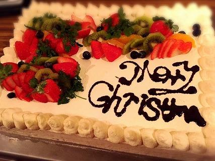 夜遊びサンタ広島ケーキ