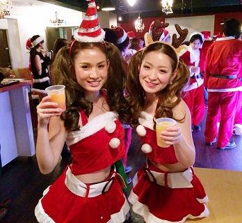 夜遊びサンタパーティーin福岡開催様子