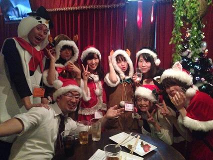 夜遊びサンタパーティーin大阪開催様子