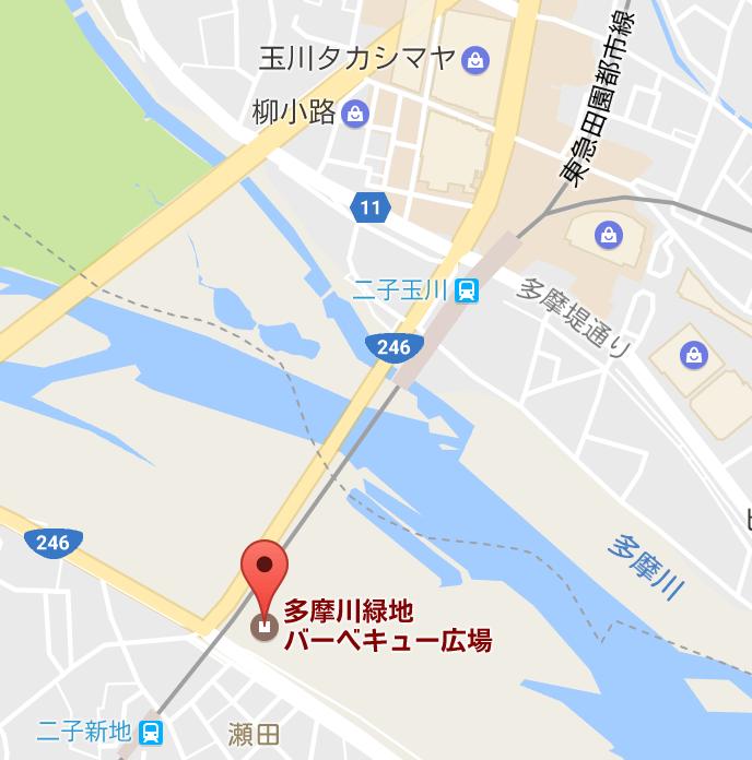 多摩川BBQ広場地図