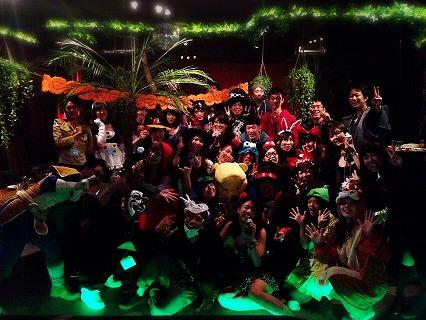 プレ夜遊びハロウィンパーティin大阪の様子