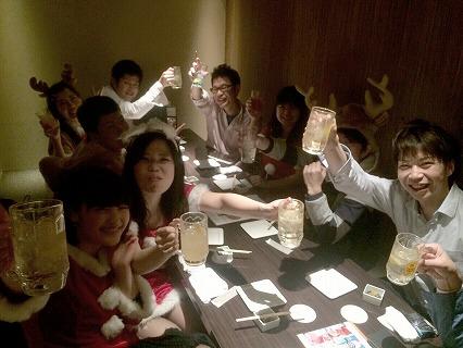 夜遊びサンタパーティーin神戸開催様子