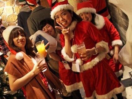 夜遊びサンタパーティーin東京開催様子