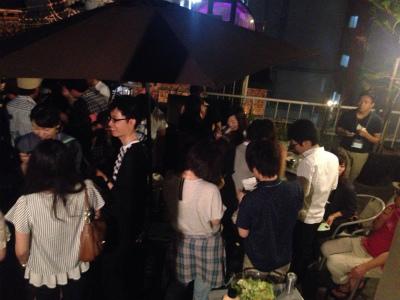 屋上テラスBBQパーティーin心斎橋開催様子