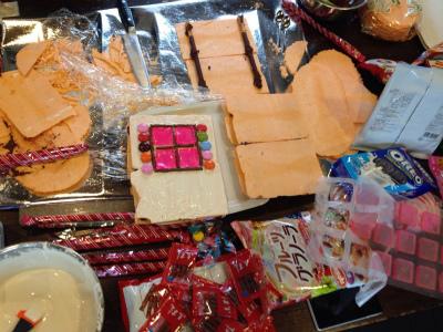 お菓子の家作り開催様子