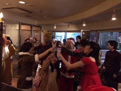 夜遊びサンタパーティーin広島開催様子