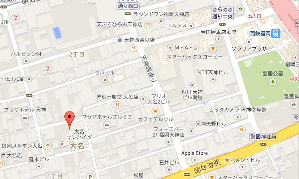 つなぐダイニングZINO地図